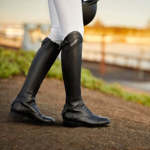 Long Leather Riding Boots