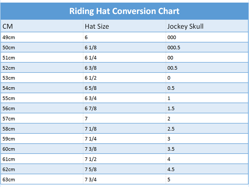 Hat Size Conversion Chart - Unicorn