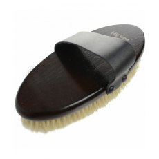 Hy Hyshine Deluxe Body Brush With Goat Hair& Massage Pad