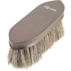 Hy HyShine Deluxe Horse Hair Wooden Dandy Brush