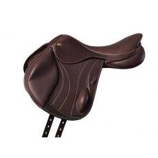 Fairfax Performance Leather Short Dressage Girth Standard Gauge 24 Brown