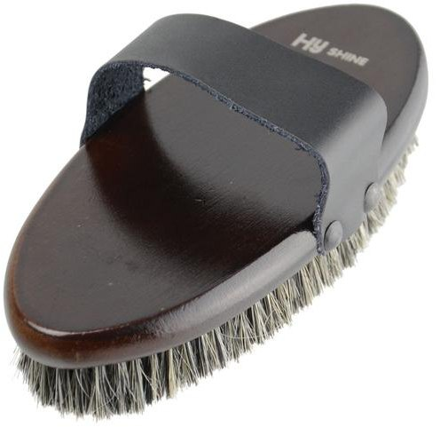 Hy Hyshine Deluxe Body Brush With Pig Bristles