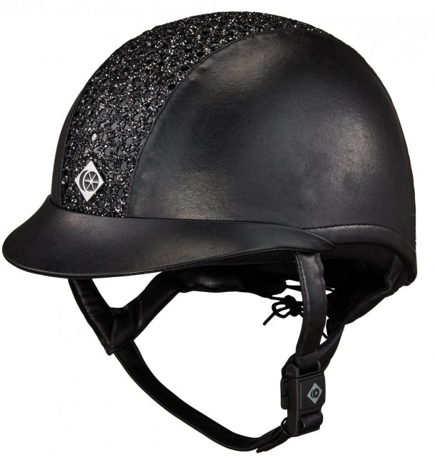 Charles Owen Sparkly Leather Look Riding Hat