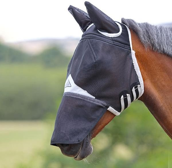 Shires Field Durable Fly Mask with Ears & Nose
